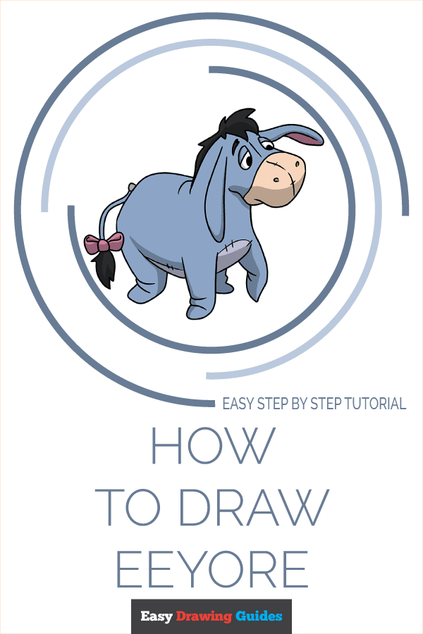 How to Draw Eeyore | Share to Pinterest
