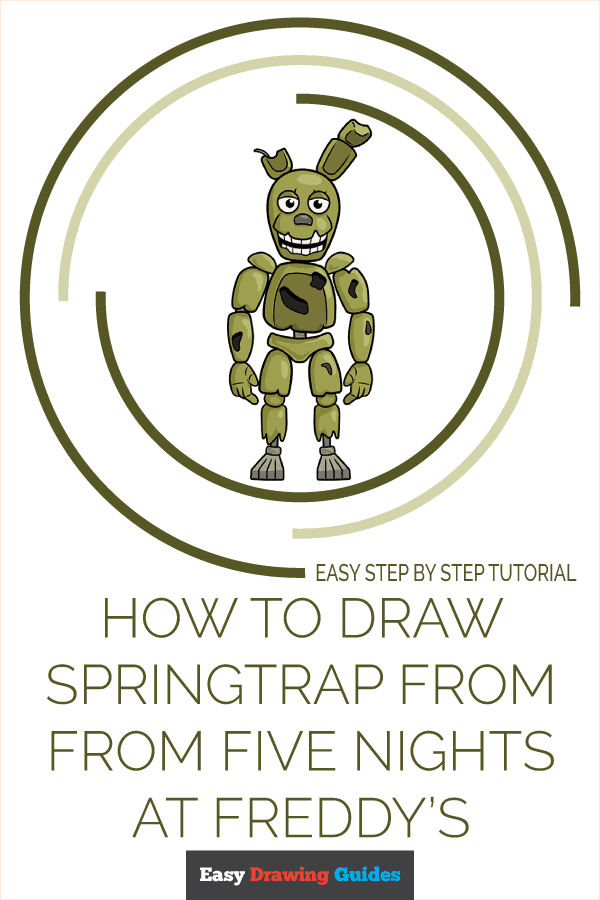 How to Draw Springtrap from Five Nights at Freddy's | Share to Pinterest