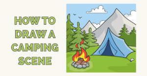 How to Draw a Camping Scene Featured Image