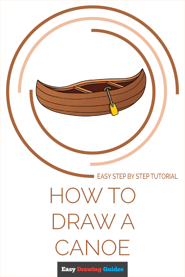 How to Draw Canoe | Share to Pinterest