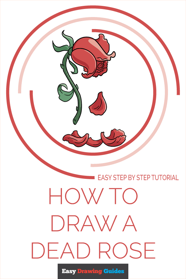 How to Draw a Dead Rose Pinterest Image