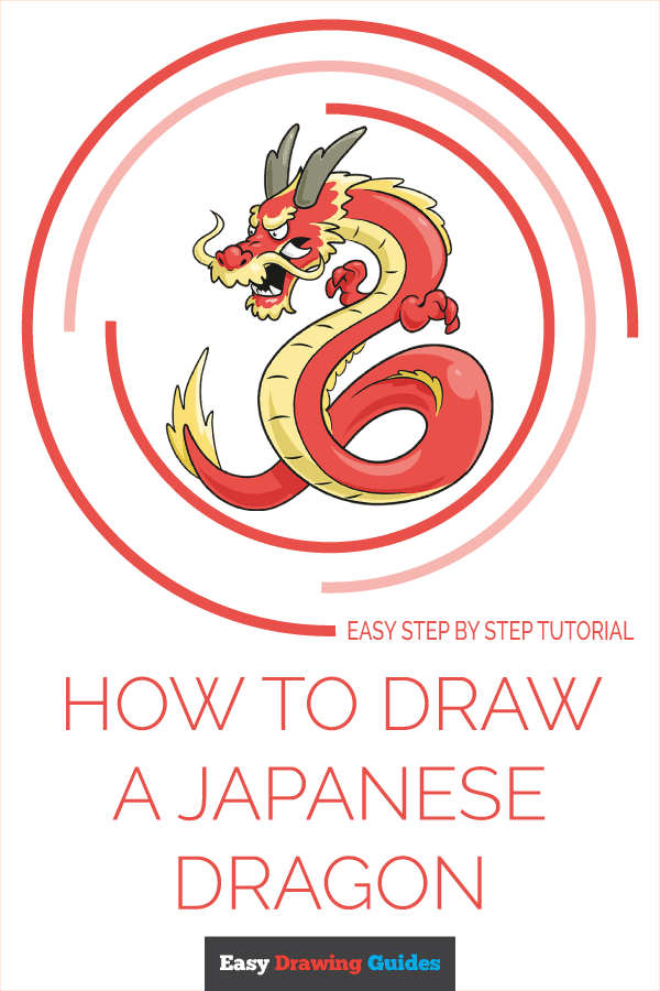 How to Draw Japanese Dragon | Share to Pinterest