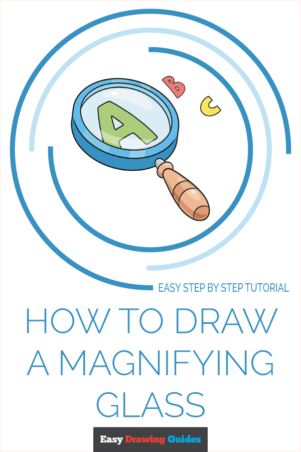 How to Draw Magnifying Glass | Share to Pinterest