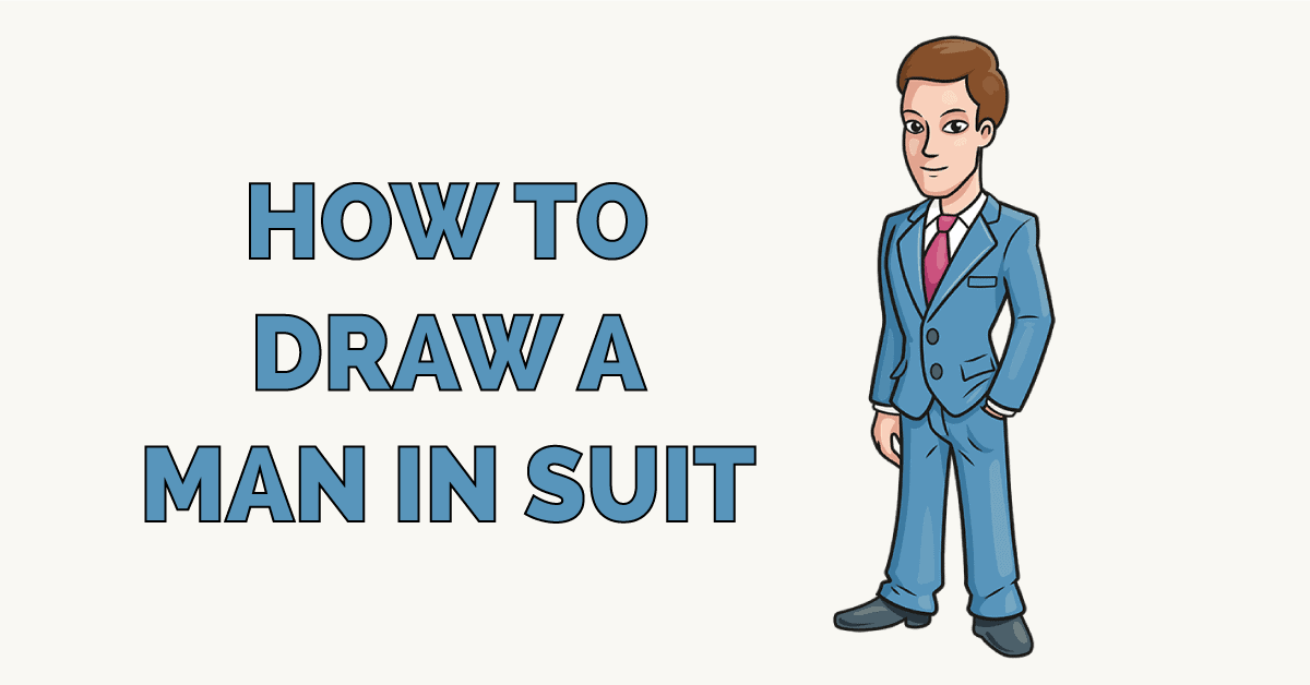 How to Draw a Man in Suit Featured Image
