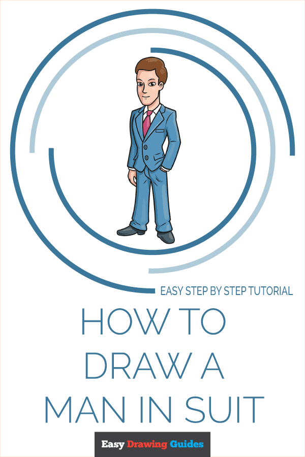 How to Draw Man in Suit | Share to Pinterest