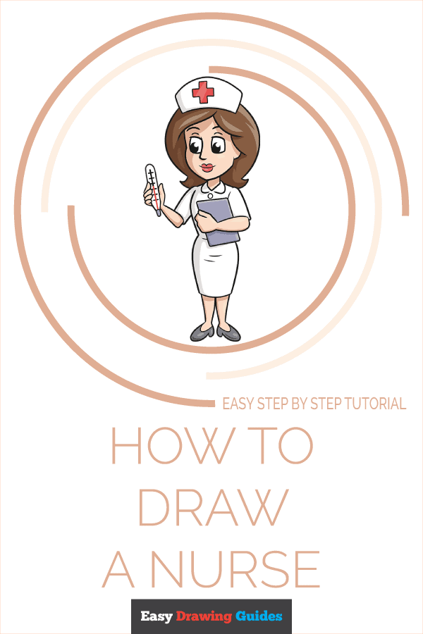 How to Draw Nurse | Share to Pinterest