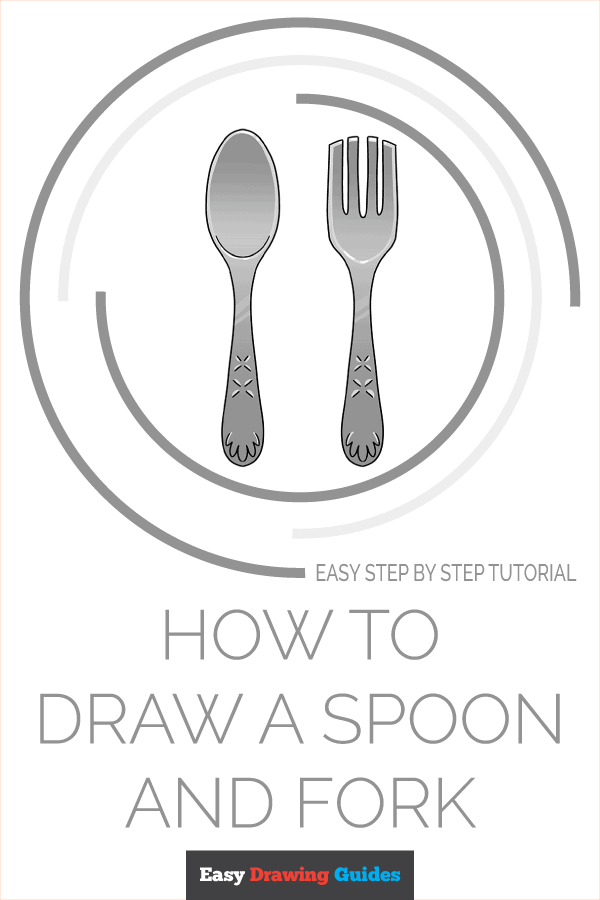 How to Draw a Spoon and Fork Pinterest Image
