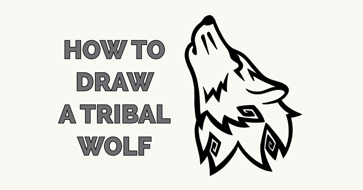 How to Draw a Tribal Wolf Featured Image