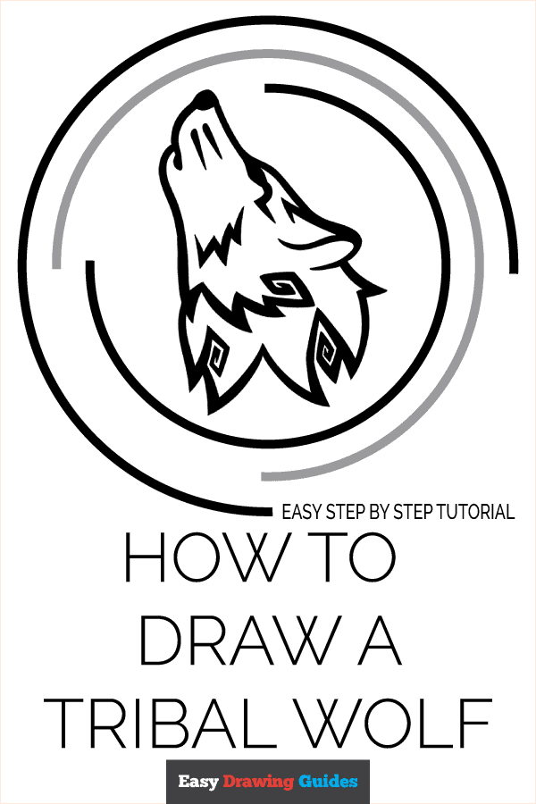 How to Draw Tribal Wolf | Share to Pinterest