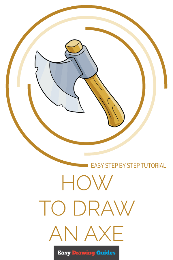 How to Draw an Axe Pinterest Image