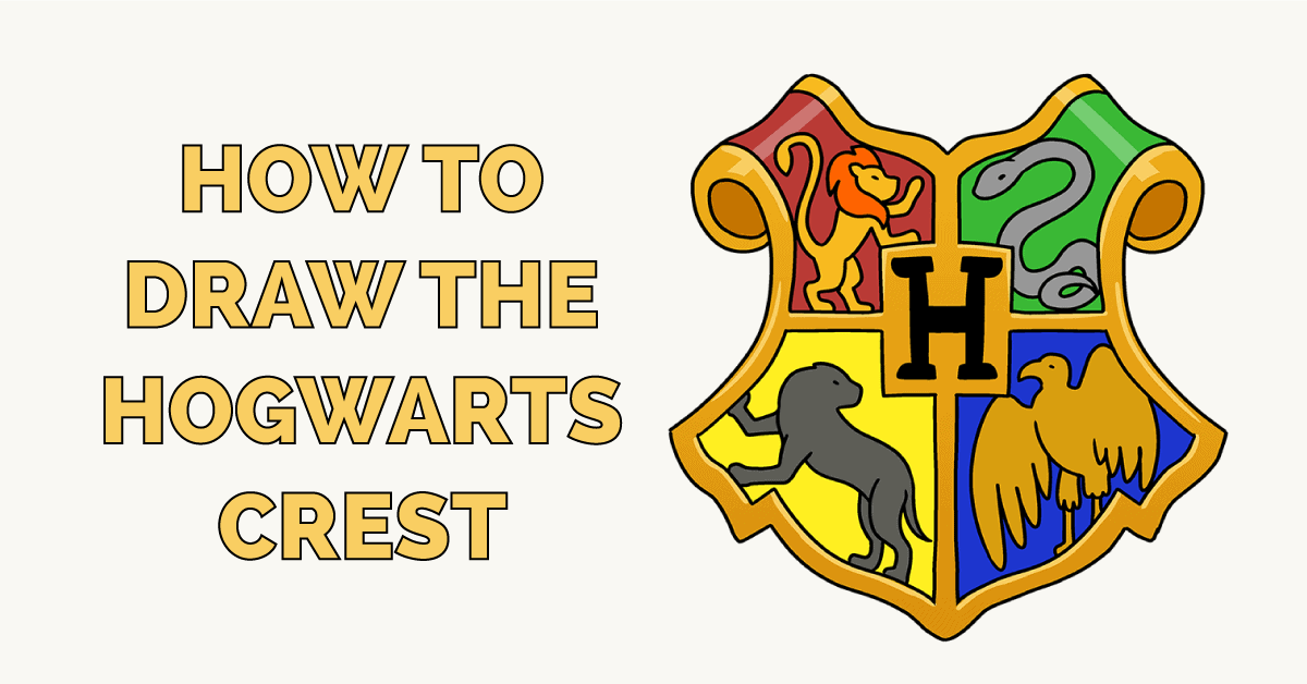how to Draw a Hogwarts Crest Featured Image