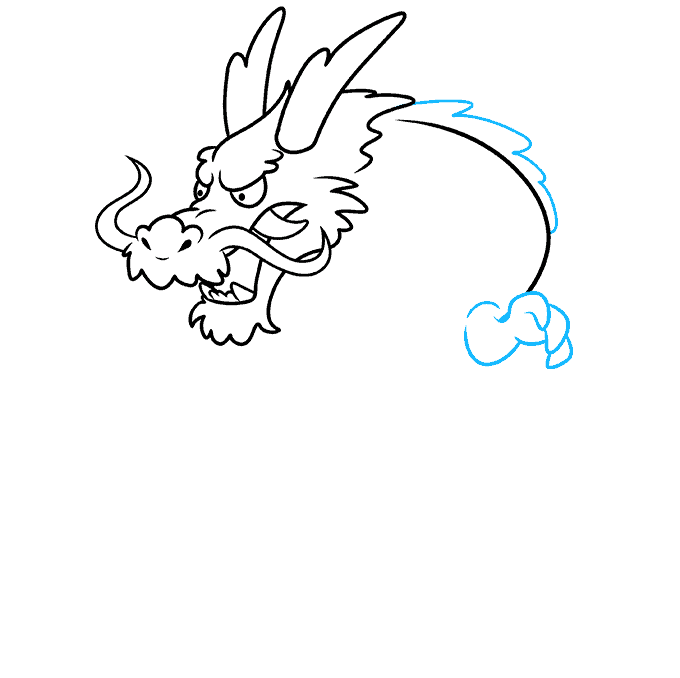 How to Draw Japanese Dragon: Step 6