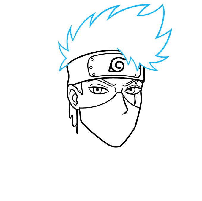 How to Draw Kakashi Hatake From Naruto Step 05