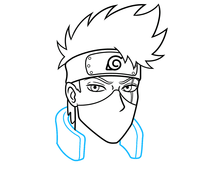 How to Draw Kakashi Hatake From Naruto Step 06