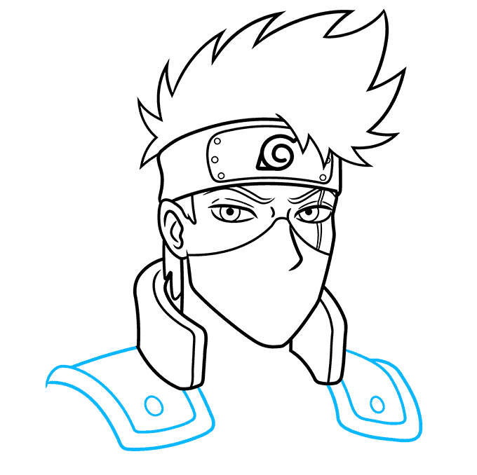 How to Draw Kakashi Hatake From Naruto Step 07