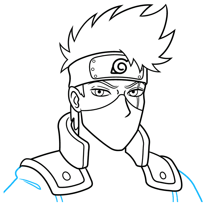 How to Draw Kakashi Hatake From Naruto Step 08