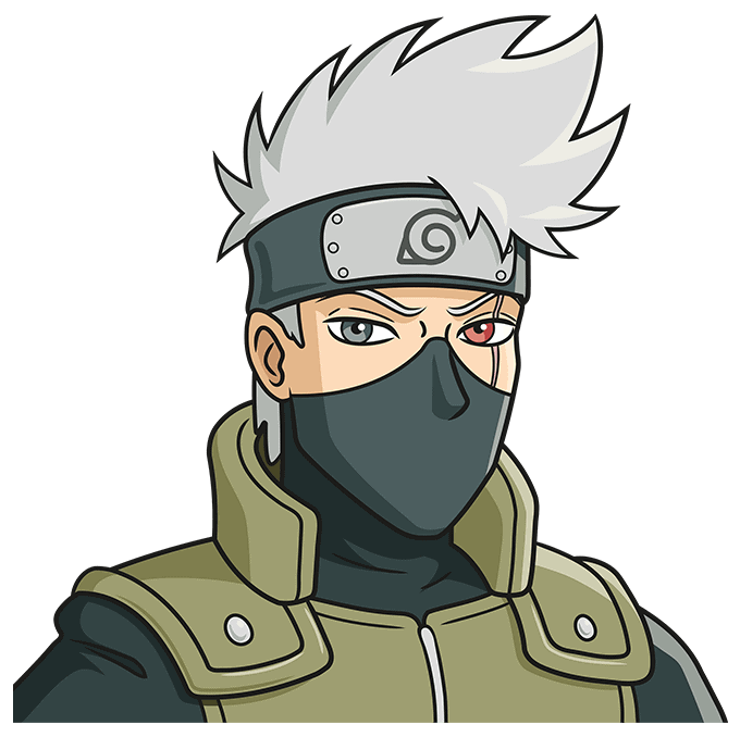 How to Draw Kakashi Hatake From Naruto Step 10