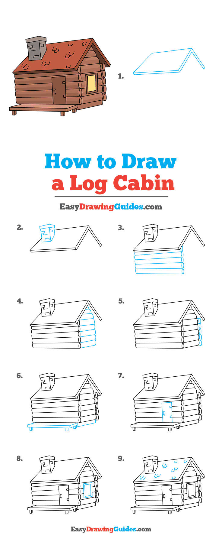 How to Draw Log Cabin