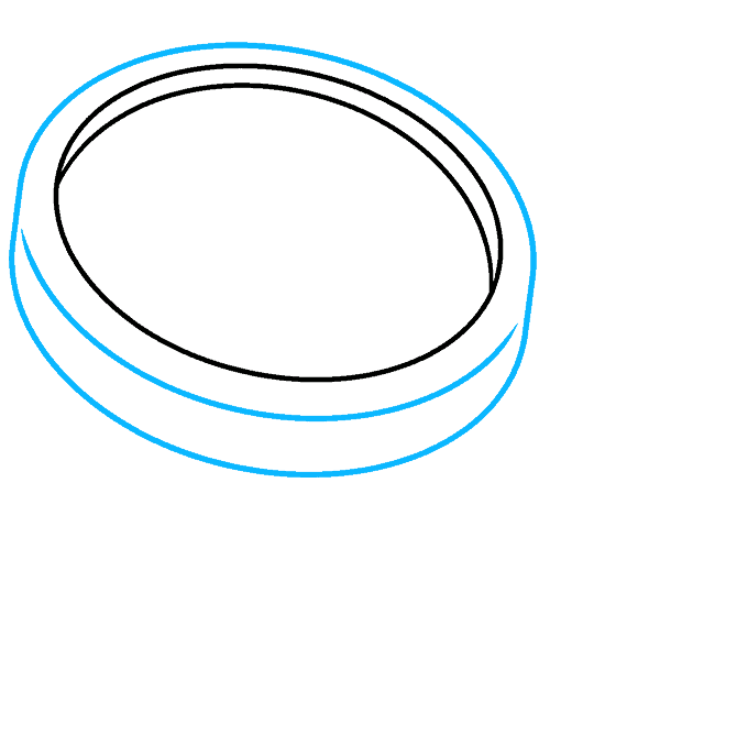 How to Draw Magnifying Glass: Step 2