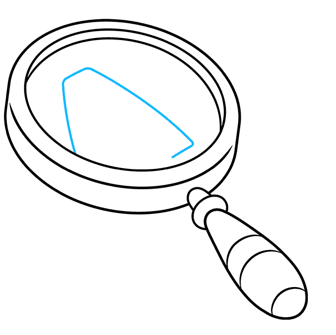How to Draw Magnifying Glass: Step 6