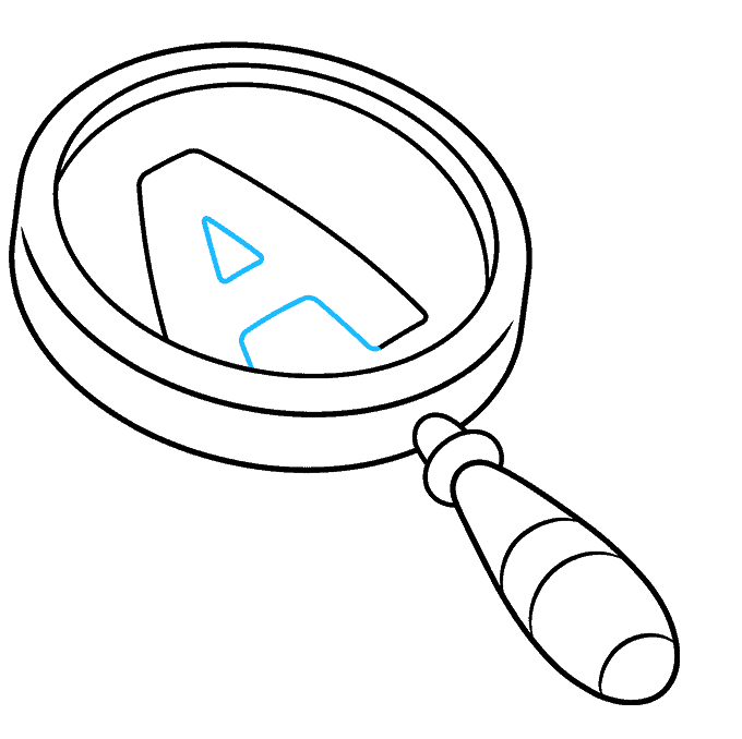 How to Draw Magnifying Glass: Step 7