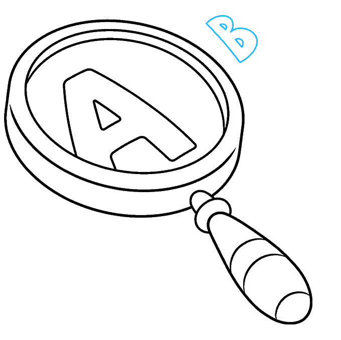 How to Draw Magnifying Glass: Step 8
