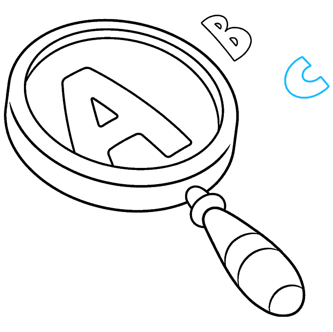 How to Draw Magnifying Glass: Step 9
