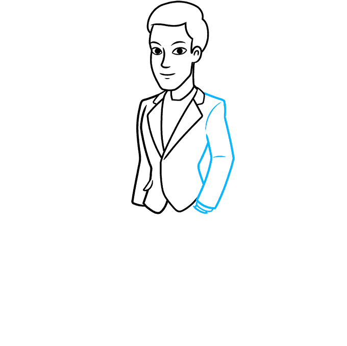 How to Draw Man in Suit: Step 6