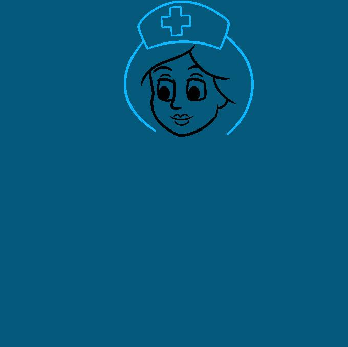 How to Draw Nurse: Step 4