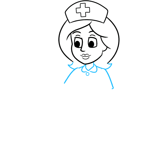 How to Draw Nurse: Step 5