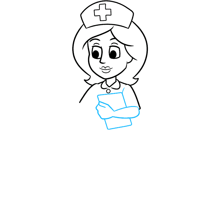 How to Draw Nurse: Step 6