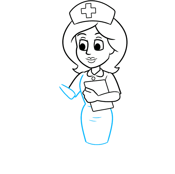 How to Draw Nurse: Step 7