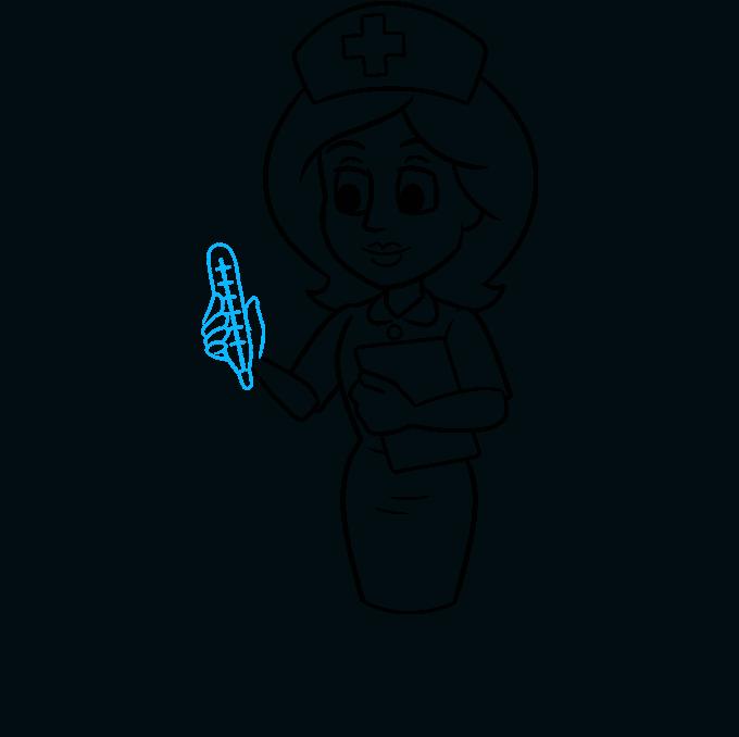 How to Draw Nurse: Step 8