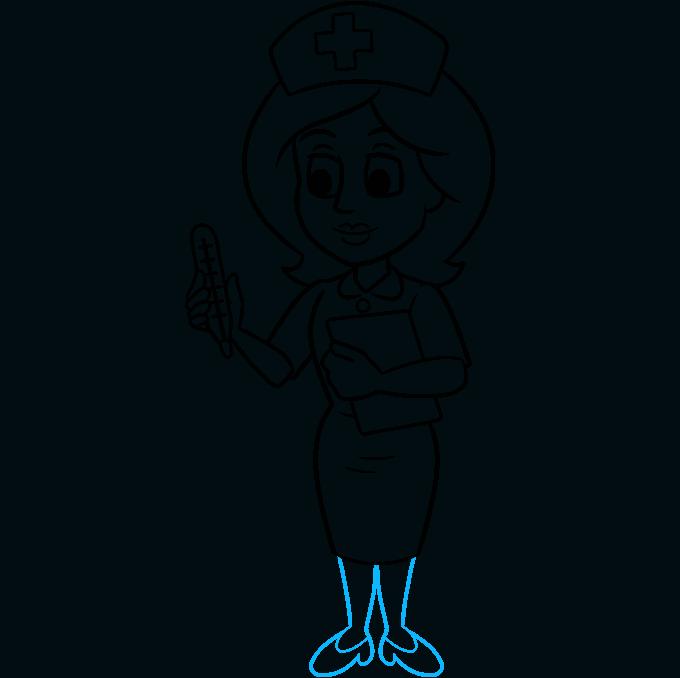 How to Draw Nurse: Step 9