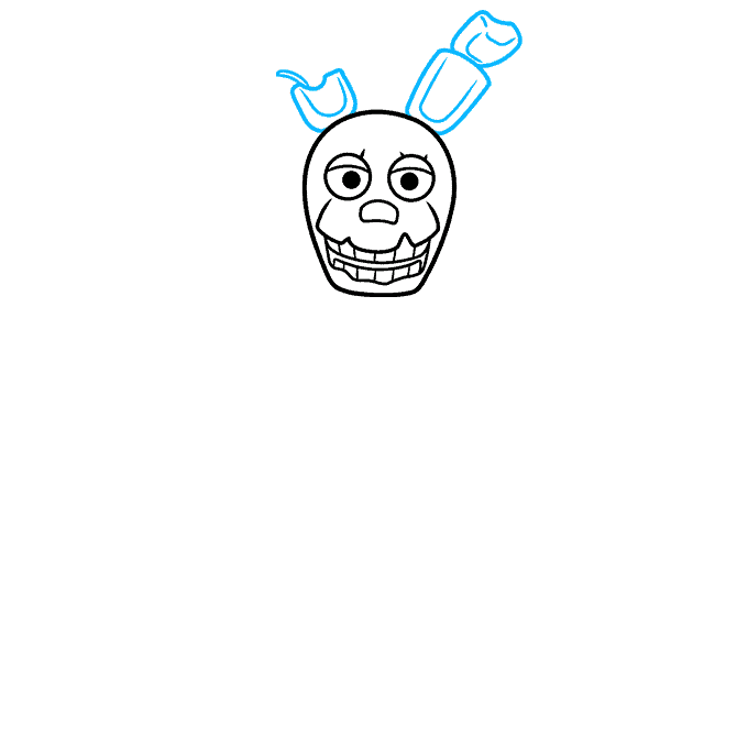 How to Draw Springtrap from Five Nights at Freddy's: Step 3