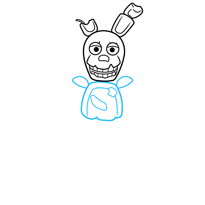 How to Draw Springtrap from Five Nights at Freddy's: Step 4