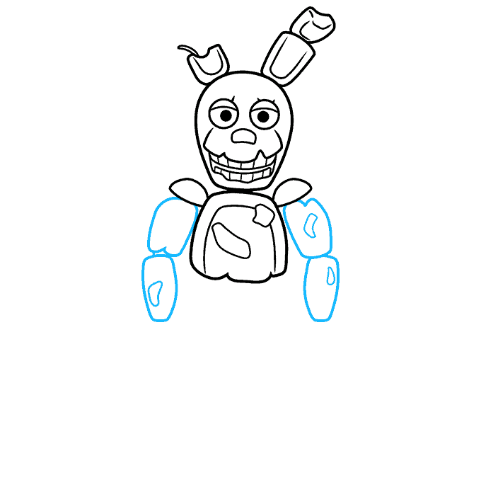 How to Draw Springtrap from Five Nights at Freddy's: Step 5