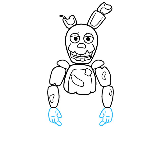 How to Draw Springtrap from Five Nights at Freddy's: Step 6