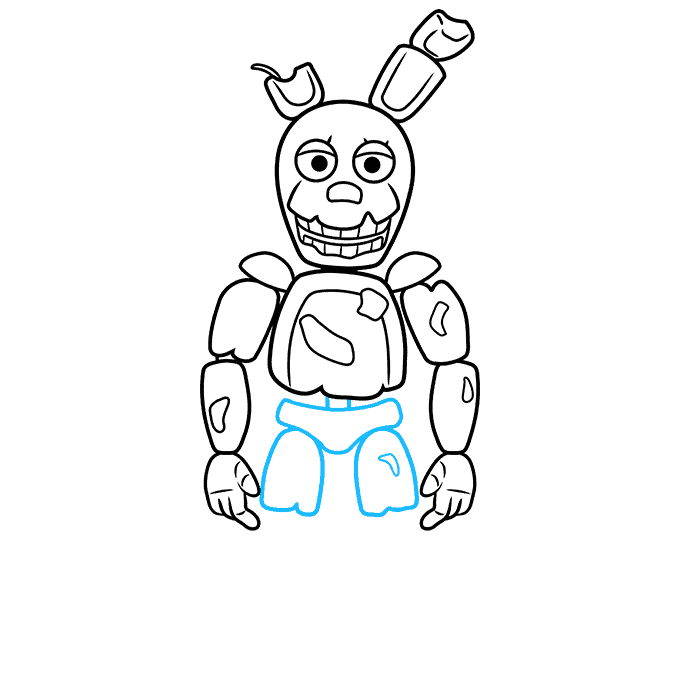 How to Draw Springtrap from Five Nights at Freddy's: Step 7