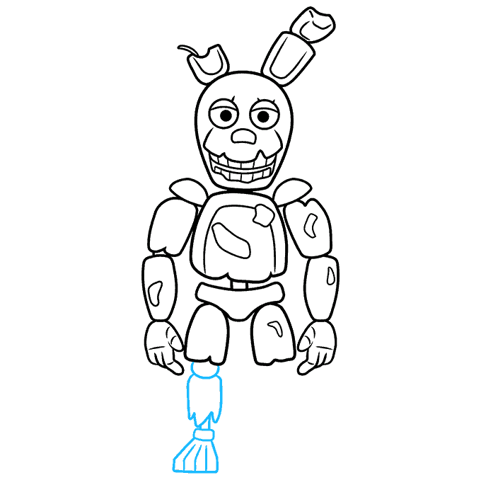 How to Draw Springtrap from Five Nights at Freddy's: Step 8
