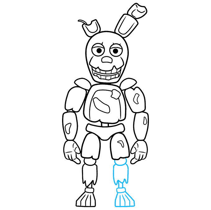 How to Draw Springtrap from Five Nights at Freddy's: Step 9