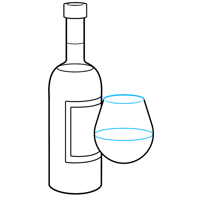 How to Draw a Wine Bottle Step 07