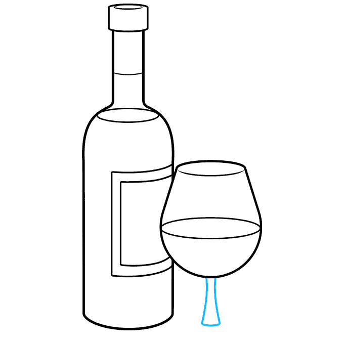How to Draw Wine Bottle: Step 8