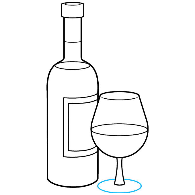 How to Draw a Wine Bottle Step 09