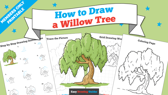 Printables thumbnail: How to Draw a Willow Tree