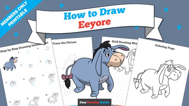 Printables thumbnail: How to Draw Eeyore