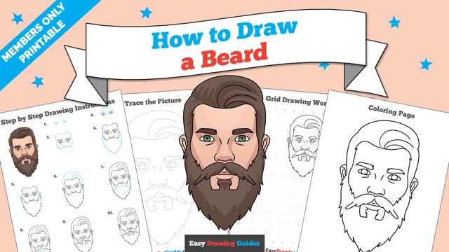 download a printable PDF of Beard drawing tutorial