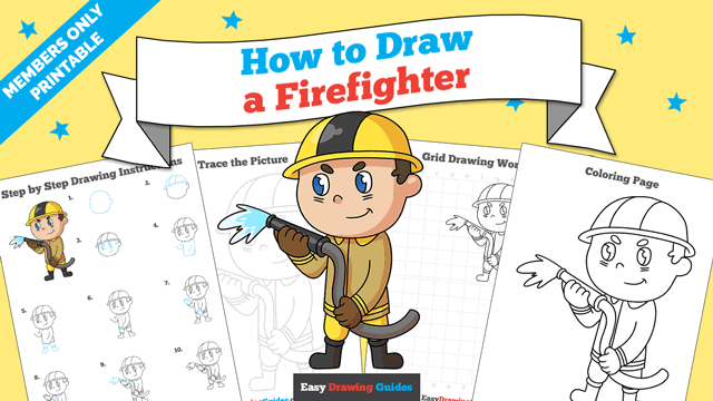 download a printable PDF of Firefighter drawing tutorial