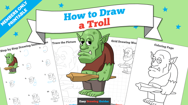 Printables thumbnail: How to Draw a Troll
