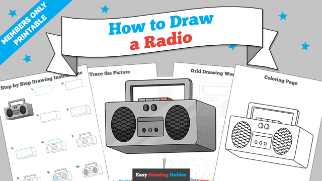 download a printable PDF of Radio drawing tutorial